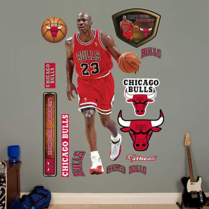 Michael Jordan Chicago Bulls Fathead Real Big Peel and Stick Life-Size Wall Graphic