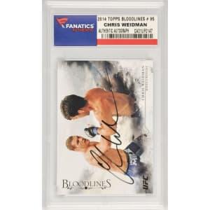 Chris Weidman UFC Fanatics Authentic Autographed 2014 Topps Bloodlines #95 Card
