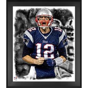 Tom Brady New England Patriots Fanatics Authentic Framed 20'' x 24'' In the Zone Photograph