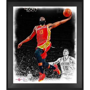 James Harden Houston Rockets Fanatics Authentic Framed 20'' x 24'' In the Zone Photograph