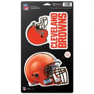 "Cleveland Browns WinCraft 5"" x 9"" 2-Pack Magnet Set"