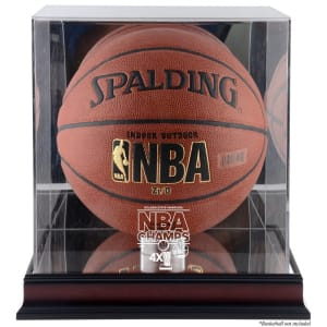 Golden State Warriors Fanatics Authentic 2015 NBA Finals Champions Logo Mahogany Basketball Display Case with Mirrored Back