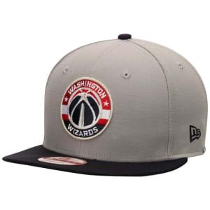 Washington Wizards New Era Team 9FIFTY Snapback Adjustable Hat - Gray/Navy