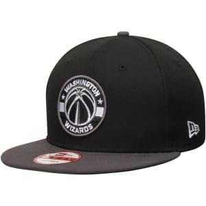 Washington Wizards New Era Black/Graphite 9FIFTY GCP Classic Logo Snapback Adjustable Hat