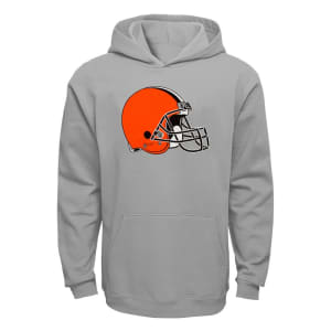 Cleveland Browns Youth Current Logo Pullover Hoodie - Gray