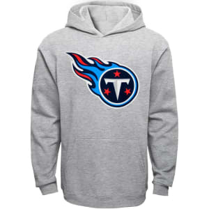 Tennessee Titans Youth Current Logo Pullover Hoodie - Gray
