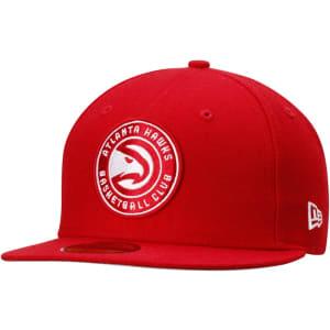 Atlanta Hawks New Era Current Logo II 59FIFTY Fitted Hat - Red