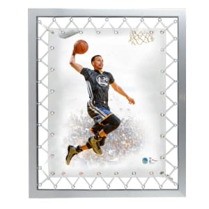 Stephen Curry Golden State Warriors Fanatics Authentic Framed 22'' x 25'' Black Jersey Laced Canvas