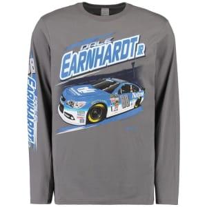 Dale Earnhardt Jr. Full Throttle Long Sleeve T-Shirt - Charcoal
