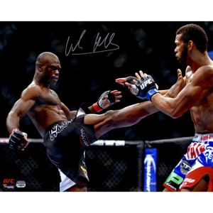 Uriah Hall Ultimate Fighting Championship Fanatics Authentic Autographed 16'' x 20'' Front Kick Photograph