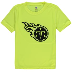 Tennessee Titans Youth Neon Logo T-Shirt - Yellow