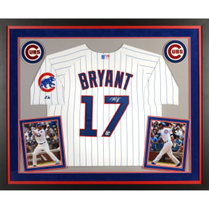 Kris Bryant Chicago Cubs Fanatics Authentic Deluxe Framed Autographed White Authentic Jersey
