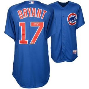 Kris Bryant Chicago Cubs Fanatics Authentic Autographed Blue Authentic Jersey