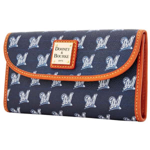 Milwaukee Brewers Dooney & Bourke Women's Team Color Continental Clutch