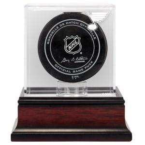 St. Louis Blues Fanatics Authentic Mahogany Hockey Puck Logo Display Case