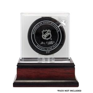 San Jose Sharks Fanatics Authentic Mahogany Hockey Puck Logo Display Case