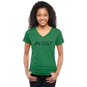 Golf Channel Women's V-Neck Tri-Blend T-Shirt - Green