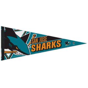 """San Jose Sharks WinCraft 12"""" x 30"""" Premium Pennant"""