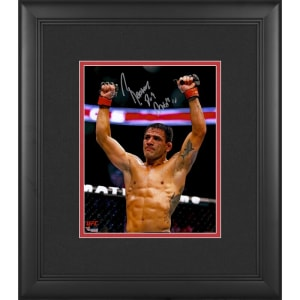 Rafael Dos Anjos Ultimate Fighting Championship Fanatics Authentic Framed Autographed 8'' x 10'' Raising Arms Photograph
