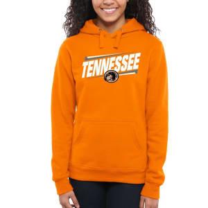 Tennessee Volunteers Women's Double Bar Pullover Hoodie - Tennessee Orange