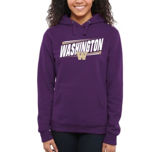 Washington Huskies Women's Double Bar Pullover Hoodie - Purple