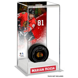 Marian Hossa Chicago Blackhawks Fanatics Authentic Deluxe Tall Hockey Puck Case