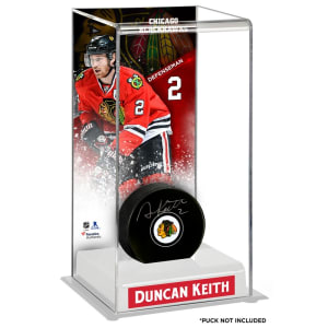 Duncan Keith Chicago Blackhawks Fanatics Authentic Deluxe Tall Hockey Puck Case