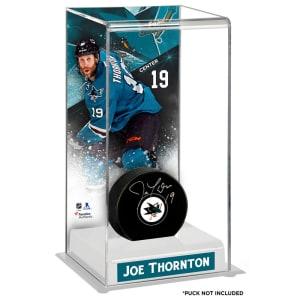 Joe Thornton San Jose Sharks Fanatics Authentic Deluxe Tall Hockey Puck Case