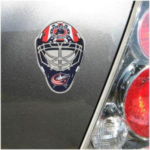 Columbus Blue Jackets Goalie Mask Auto Emblem