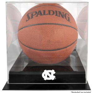 North Carolina Tar Heels Fanatics Authentic Black Base (2015-Present Logo) Basketball Display Case with Mirrored Back
