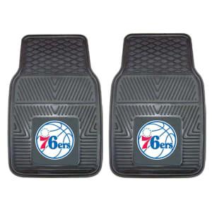 """Philadelphia 76ers 27"""" x 18"""" 2-Pack Vinyl Car Mat Set"""