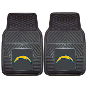 "Los Angeles Chargers 27"" x 18"" 2-Pack Vinyl Car Mat Set"