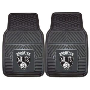 "Brooklyn Nets 27"" x 18"" 2-Pack Vinyl Car Mat Set"