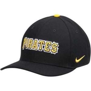 Pittsburgh Pirates Nike Classic Swoosh Performance Flex Hat - Black