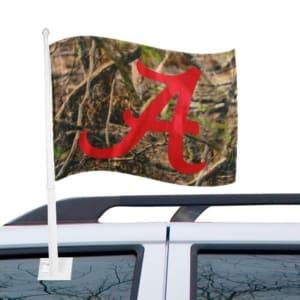 Alabama Crimson Tide Camo Two-Sided Fashion Car Flag