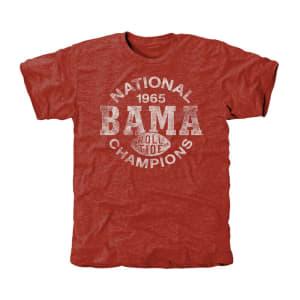 Alabama Crimson Tide 1965 Single Wing Tri-Blend T-Shirt - Crimson