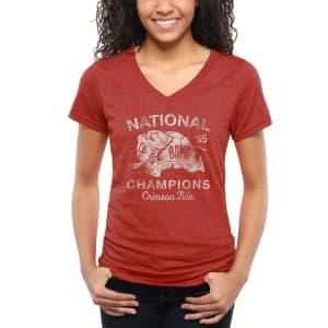 Alabama Crimson Tide Women's 1965 Full Speed Tri-Blend T-Shirt - Crimson