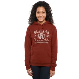 Alabama Crimson Tide Women's 1965 Power I Pullover Hoodie - Crimson