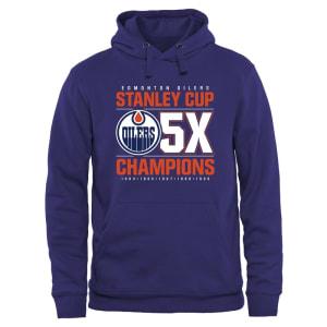 Edmonton Oilers Rinkside Victor Pullover Hoodie - Royal