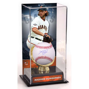 Madison Bumgarner San Francisco Giants Fanatics Authentic Autographed Baseball and Gold Glove Display Case with Image