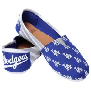 Los Angeles Dodgers Women's Canvas Stripe Shoes