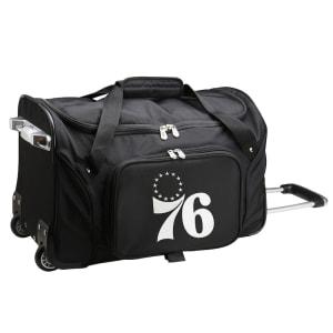 "Philadelphia 76ers 22"" 2-Wheeled Duffel Bag - Black"