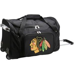 "Chicago Blackhawks 22"" 2-Wheeled Duffel Bag - Black"