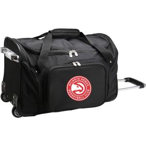 """Atlanta Hawks 22"""" 2-Wheeled Duffel Bag - Black"""