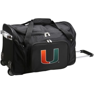 "Miami Hurricanes 22"" 2-Wheeled Duffel Bag - Black"