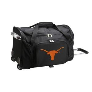 "Texas Longhorns 22"" 2-Wheeled Duffel Bag - Black"