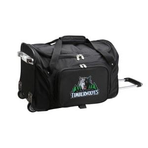 "Minnesota Timberwolves 22"" 2-Wheeled Duffel Bag - Black"