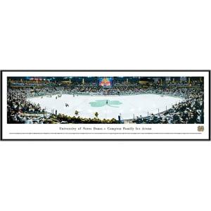 "Notre Dame Fighting Irish 13"" x 40"" Compton Family Ice Arena Standard Frame Panorama"