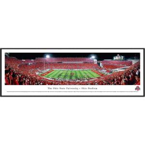 """Ohio State Buckeyes 13"""" x 40"""" Stadium Standard Frame Panorama"""