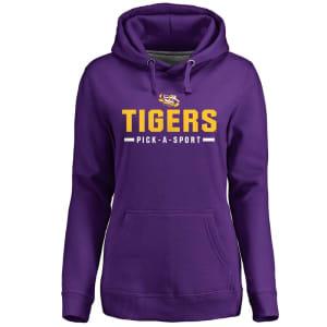 LSU Tigers Women's Custom Sport Pullover Hoodie - Purple